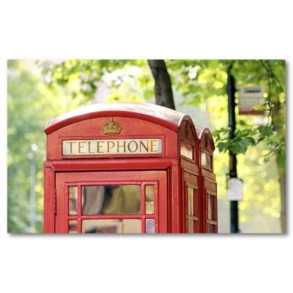 Αφίσα (Λονδίνο, τηλεφωνικός θάλαμος, πανοραμικός, δέντρο)